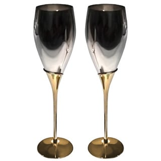 Elegance 2-Tone Tulip Fluted Goblets (Set of 2)