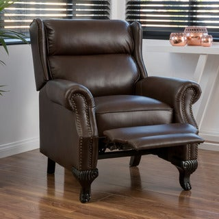 Tauris PU Leather Recliner Club Chair by Christopher Knight Home