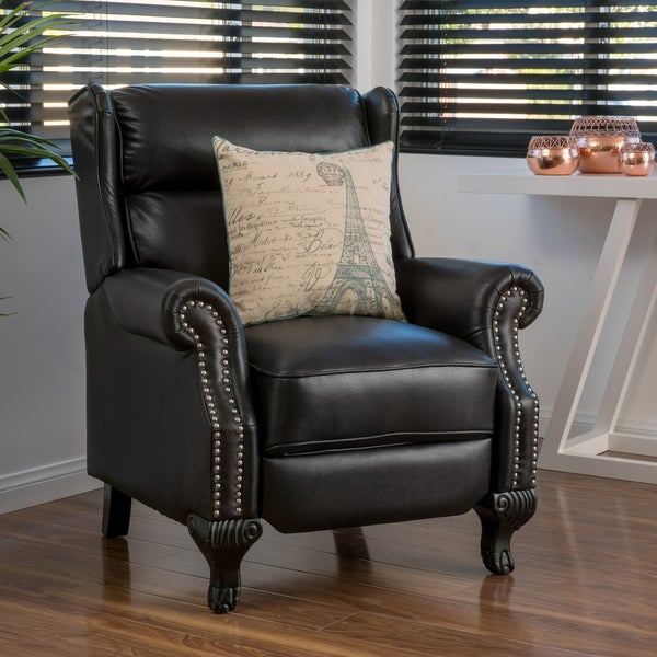 tauris pu leather recliner club chair by christopher knight home free shipping today