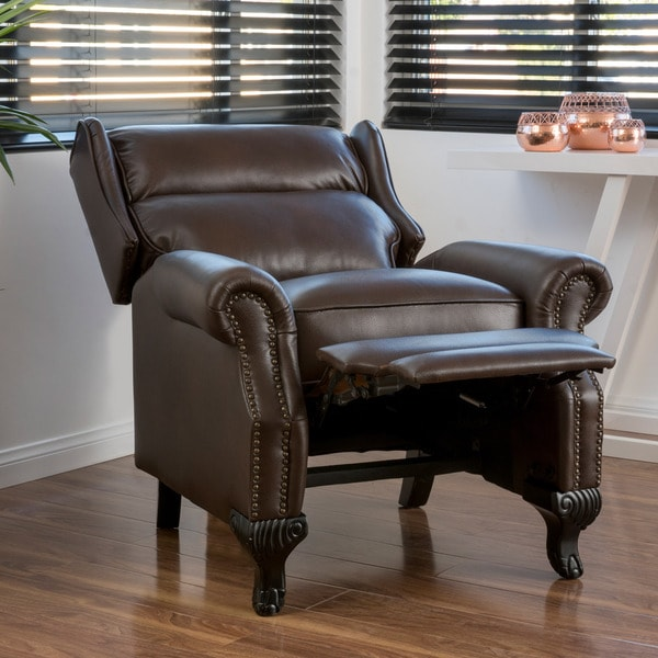 Tauris PU Leather Recliner Club Chair by Christopher Knight Home - Free Shipping Today - Overstock.com - 18108796 & Tauris PU Leather Recliner Club Chair by Christopher Knight Home ... islam-shia.org