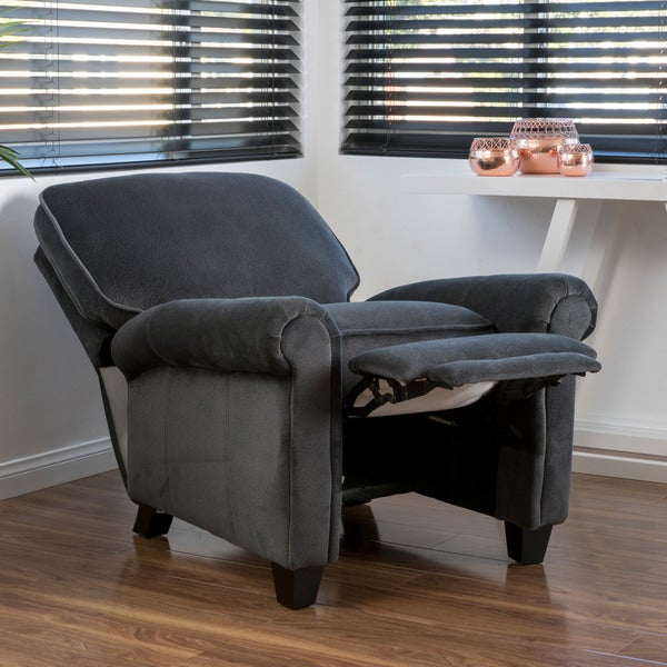 dallon fabric recliner club chair by christopher knight home free shipping today