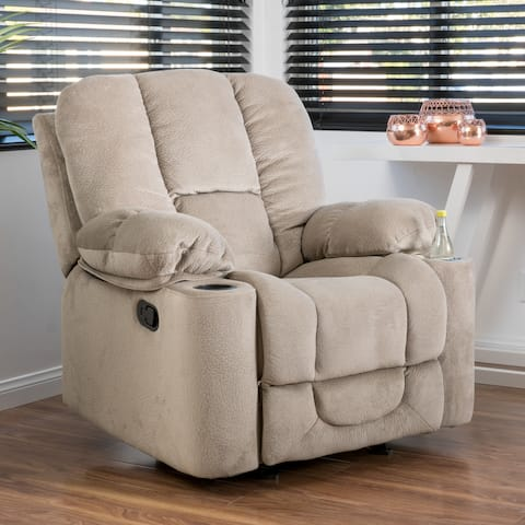 Gannon Fabric Reclining Glider Club Chair by Christopher Knight Home