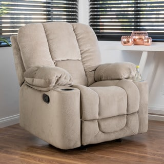 Gannon Fabric Glider Recliner Club Chair by Christopher Knight Home