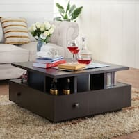 Furniture of America Terrenal Tiered Espresso 4-drawer Coffee Table