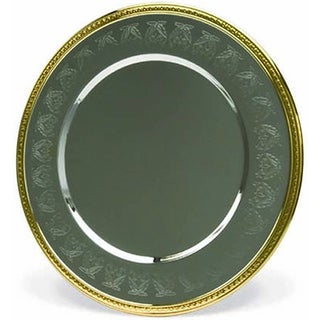 "Elegance Embossed 2-tone Silver and Gold 12"" Charger Plate"