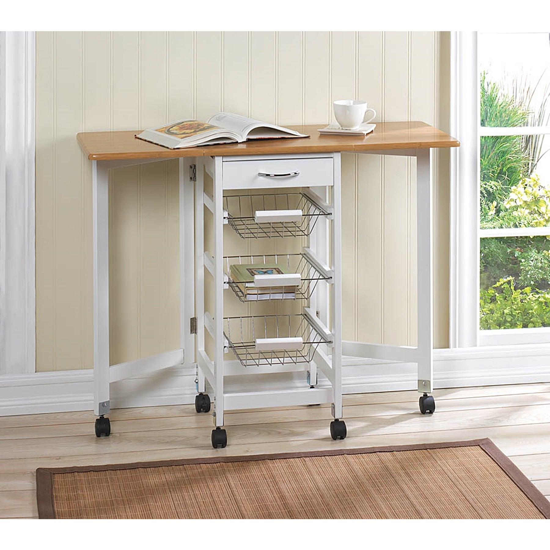 Hibiscus 3-shelf Extended Kitchen Cart (Hibiscus 3-Self E...