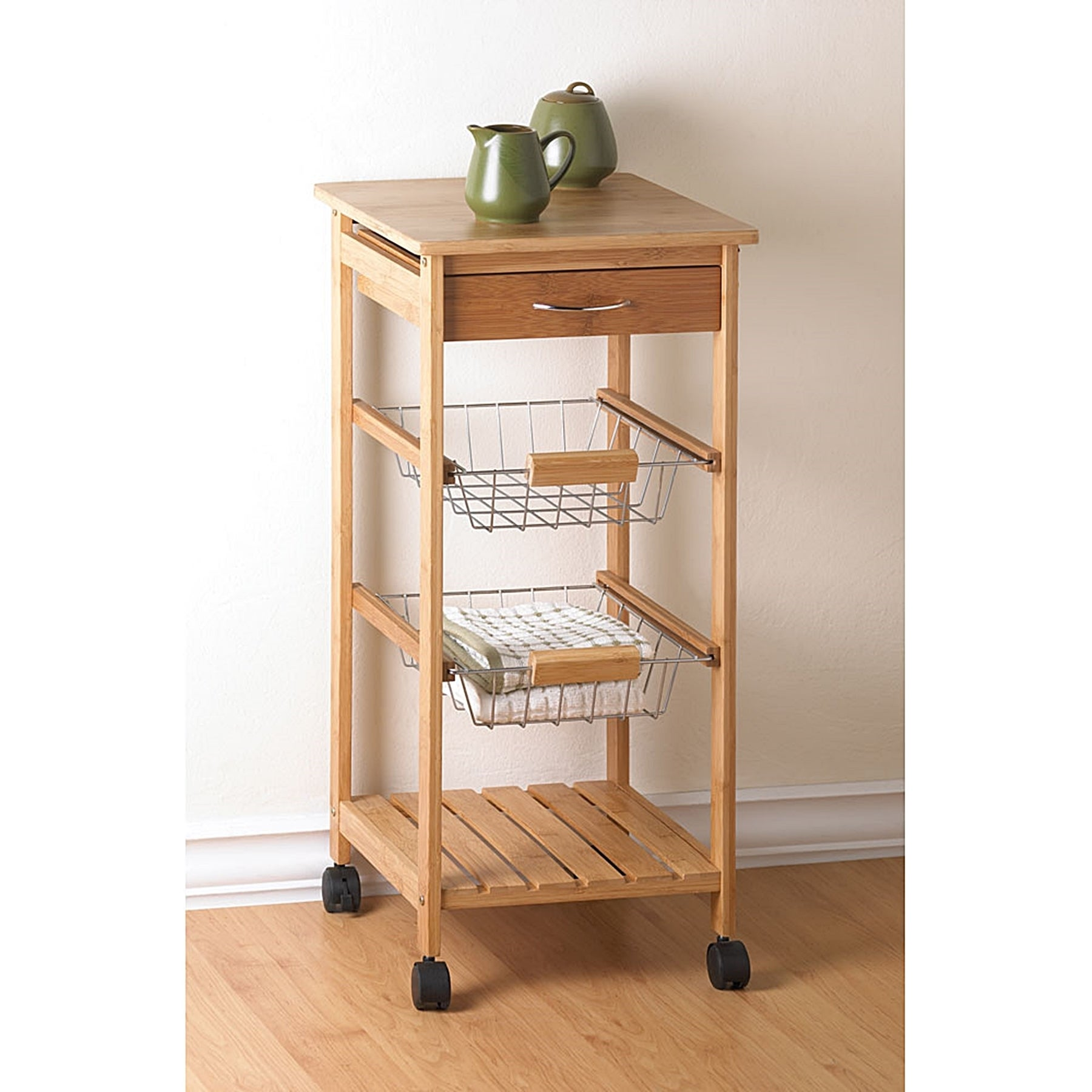 Holly Kitchen Trolley on Wheels, Brown
