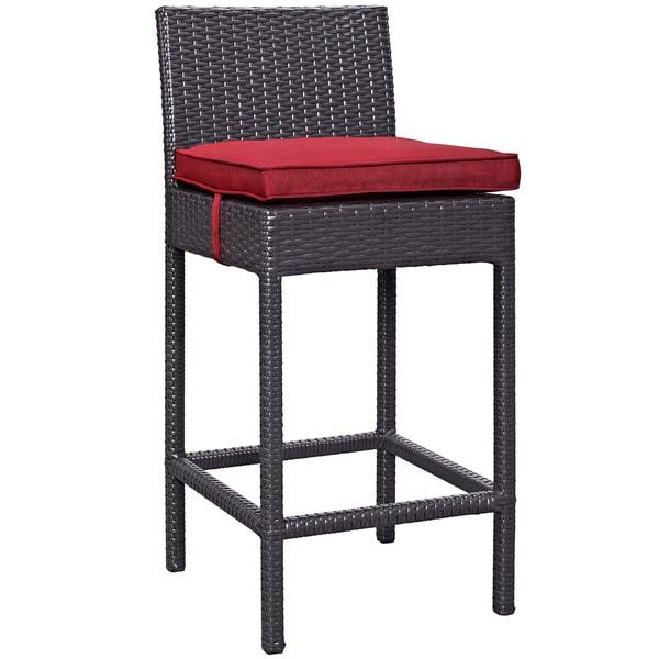 Shop Veer Outdoor Patio Fabric Bar Stool Overstock