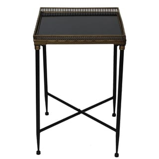 Gallery Collection Square Marble Accent Tray Table