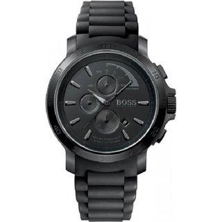 Hugo Boss Men's Chronograph Black Dial Black Silicone Watch 1512393