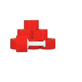 Narrow Banding 3 -inch 80 Gauge 1000 Ft Red Stretch Wrap Film 36 Rolls