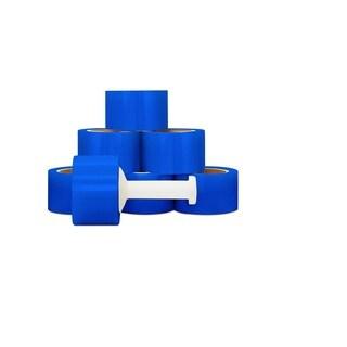 72 Rolls Blue Hand Stretch Film Shrink Wrap 3 -inch 80 Gauge 1000 Ft