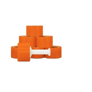 72 Rolls Orange Hand Stretch Film Shrink Wrap 3 -inch 80 Gauge 1000 Ft