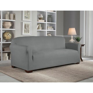 Tailor Fit Reversible Stretch Suede Sofa Slipcover