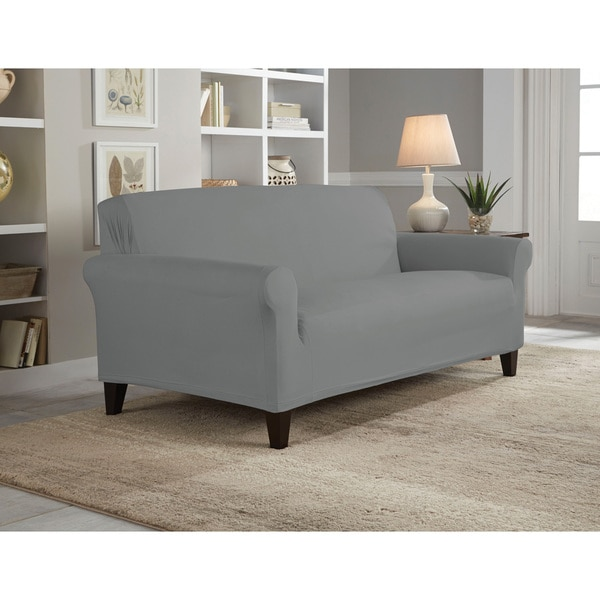 Tailor Fit Reversible Stretch Suede Loveseat Slipcover