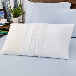 Authentic Talatech 230 Thread Count Latex Foam Medium Density Pillow Queen Size (As Is Item)