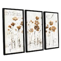 ArtWall Lisa Audit's Abstract Balance VI, 3 Piece Floater Framed Canvas Set
