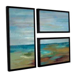 ArtWall Silvia Vassileva's Wispy Clouds, 3 Piece Floater Framed Canvas Flag Set