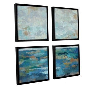 ArtWall Silvia Vassileva's Seascape Sketches 1, 4 Piece Floater Framed Canvas Sqare Set