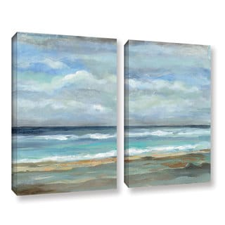 ArtWall Silvia Vassileva's Seashore, 2 Piece Gallery Wrapped Canvas Set