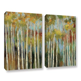 ArtWall Silvia Vassileva's Young Forest, 2 Piece Gallery Wrapped Canvas Set