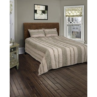 Rizzy Home Georgette Taupe Quilt Set