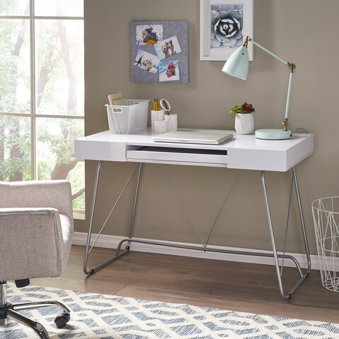 Heinrik Wood Computer Desk with Keyboard Tray by Christopher Knight Home