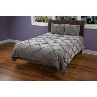 Rizzy Home Posh Grey 3-piece Quilt Set