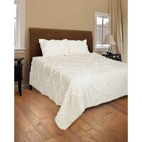Rizzy Home Posh White 3-piece Quilt Set
