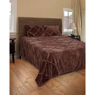 Rizzy Home Posh Brown 3-piece Quilt Set