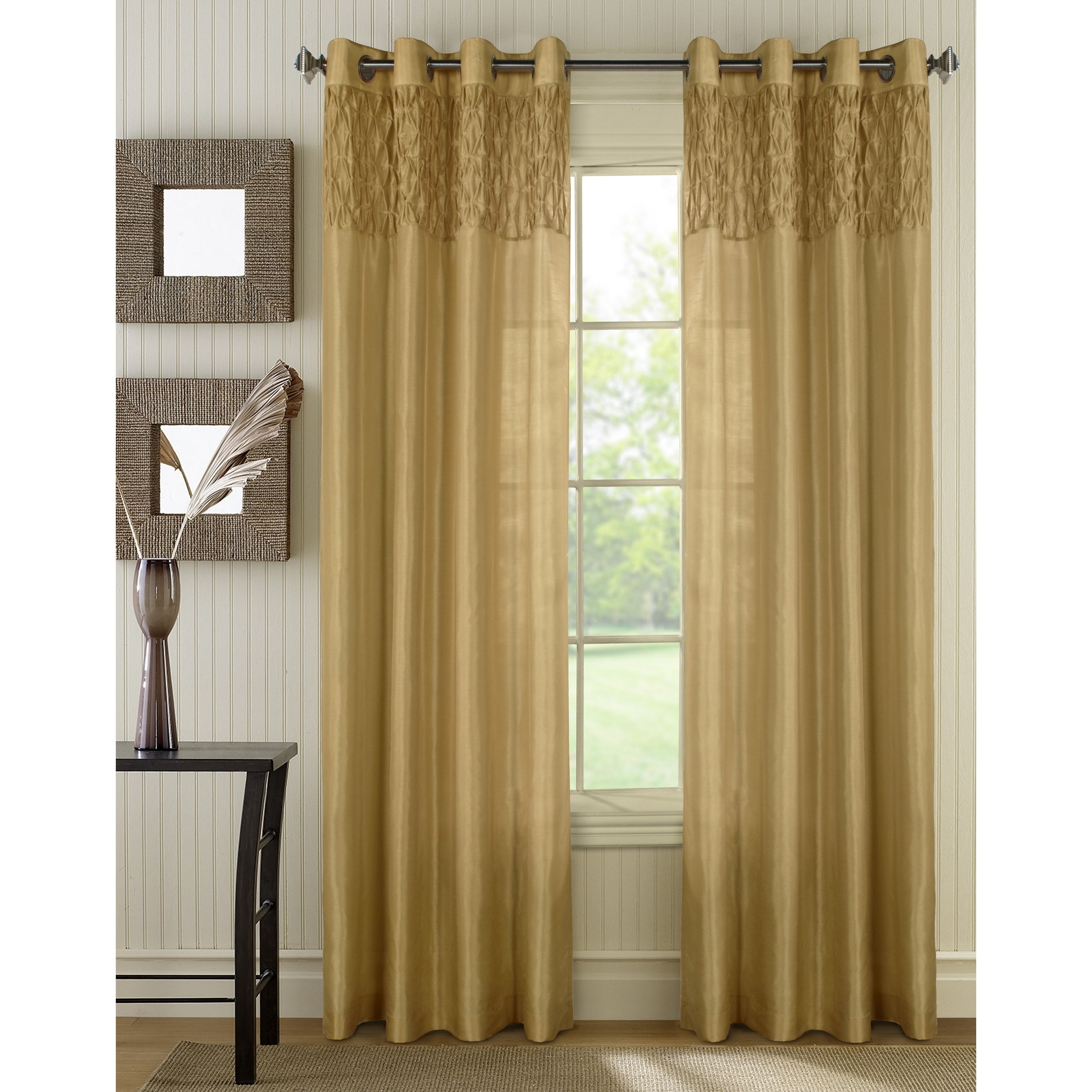 Emanuel Faux Silk Curtain (As Is Item) (95 Inches - 52 x ...