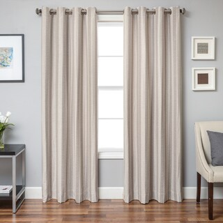 Softline Campania Chevron Grommet Top Curtain Panel
