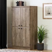 "South Shore Morgan Storage Cabinet - 31.25""w x 18.25""d x 62.5""h"