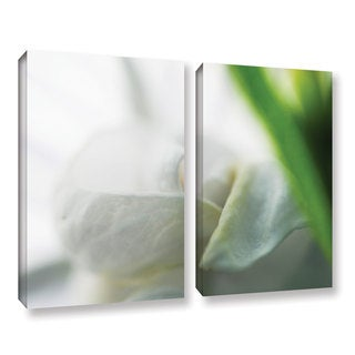 ArtWall Sydney Schardt's White Petal, 2 Piece Gallery Wrapped Canvas Set