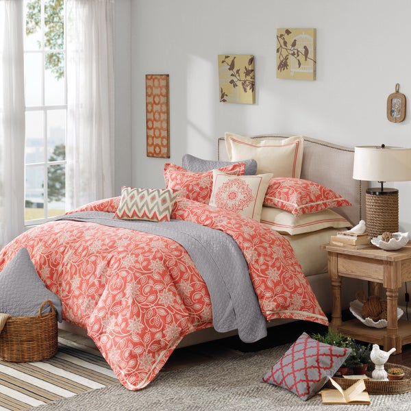 hampton hill portico luxury 9-piece comforter set - free shipping
