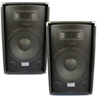 Acoustic Audio DR12 Pro 12-inch Speaker Pair PA DJ Karaoke Band 1200 Watts 2 Way DR12-PR