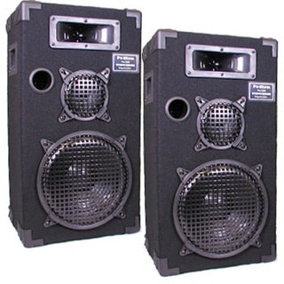 Podium Pro E1000C Studio Speakers 10-inch Three Way Pro Audio Monitor Pair for PA DJ Home or Karaoke E1000C-PR