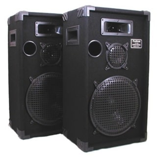 Podium Pro E1200C Studio Speakers 12-inch Three Way Pro Audio Monitor Pair for PA DJ Home or Karaoke E1200C-PR