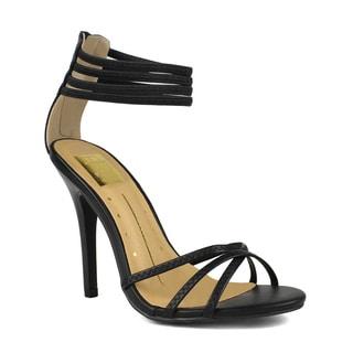 Fahrenheit Grace-03 Strappy Single Sole Women's High Heel Sandals