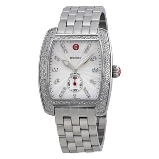 Michele Women's MWW02T000001 'Urban' Diamond Stainless Steel Watch