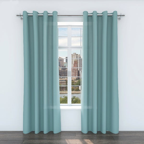 Colorfly Zane Linen 84-Inch Curtain Panel Pair