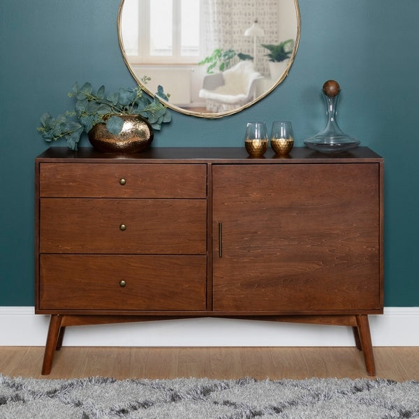Carson Carrington Saltor Walnut Finish 52-inch Mid-century Buffet