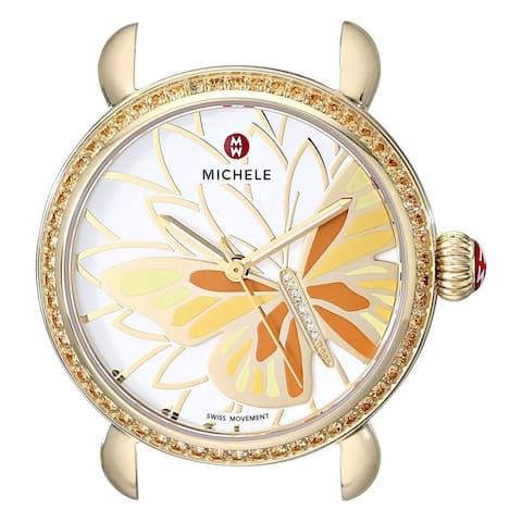 Michele Women's MW05D41B0996 'CSX 36' Butterfly Gold-Tone Stainless Steel Watch
