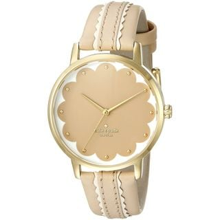 Kate Spade Women's KSW1002 'Scallop Metro' Beige Leather Watch
