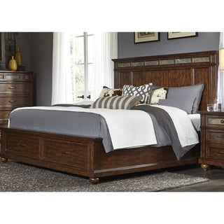 Coronado Tobacco and Slate Storage Panel Bed