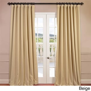 EFF Extra Wide Thermal Blackout 108-inch Curtain Panel in Beige (As Is Item)