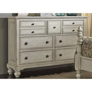 High Country Pine White Washed 7-drawer Dresser