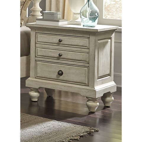 High Country Pine White Washed 2-drawer Nightstand