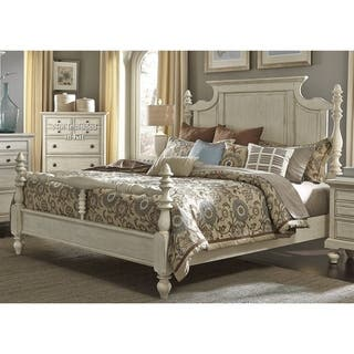 High Country Pine White Washed Posterbed. French Country Beds For Less   Overstock com