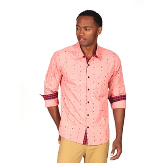 Something Strong Men's Pink Printed Shirt
